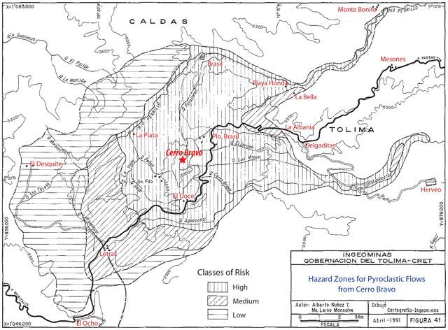 Mapa cerro bravo