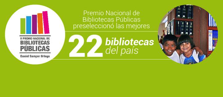Premio Nacional de Bibliotecas Públicas preseleccionó las mejores 22 bibliotecas del país (haga clic aquí)