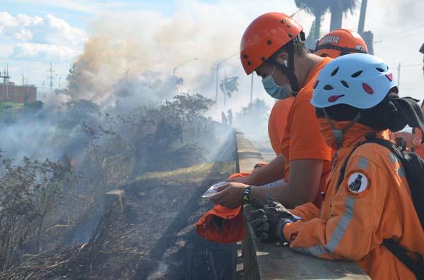 incendio forestal en el quindio