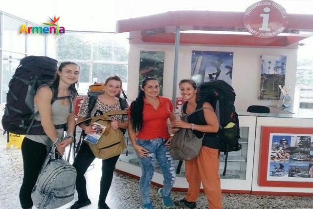 Turistas internacionales en armenia