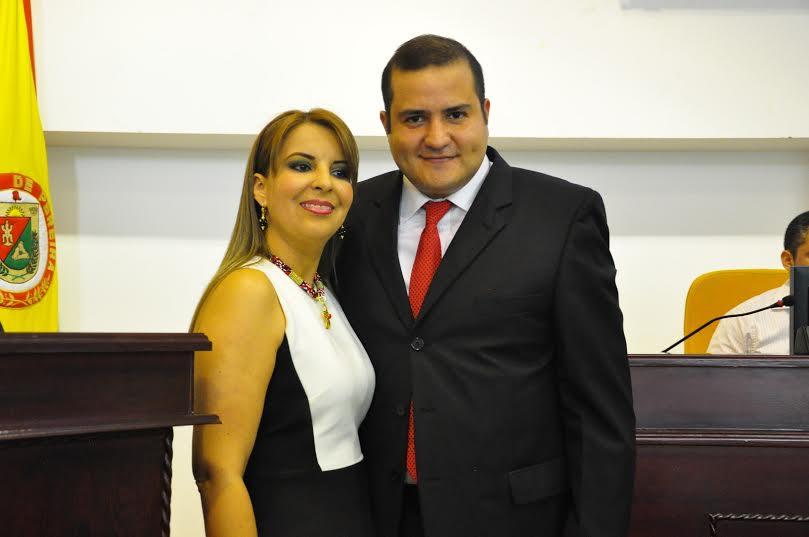 Sandra Lorena Cárdenas personera y Presidente Concejo Jaime Duque