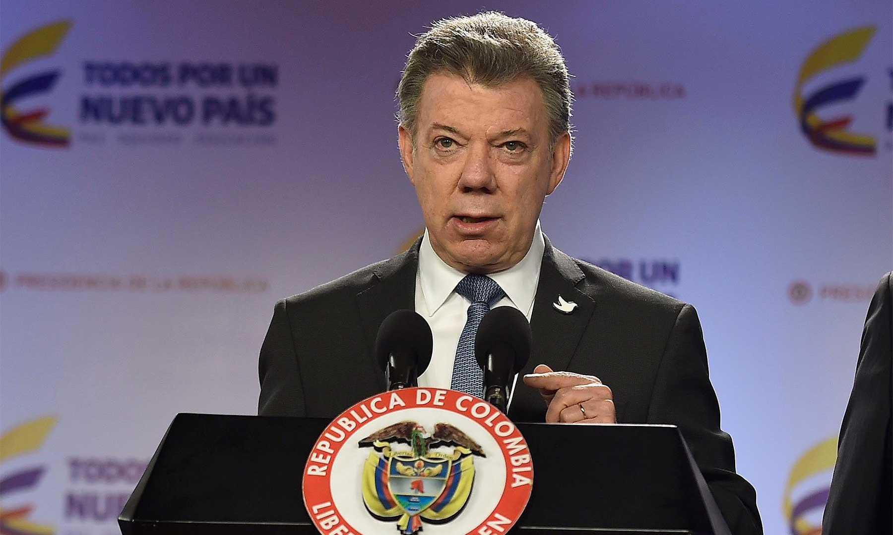 """""""He decidido que Colombia no seguirá compareciendo, en este asunto, ante la Corte Internacional de Justicia"""", anunció este jueves el Presidente Juan Manuel Santos al referirse a las decisiones de hoy de ese organismo internacional."""