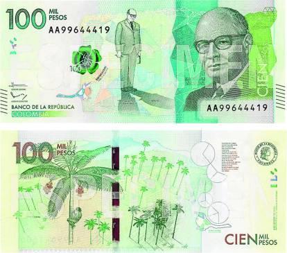 billete de cien mil pesos foto dos