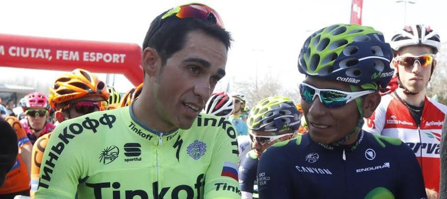 Alberto Contador y Nairo Quintana