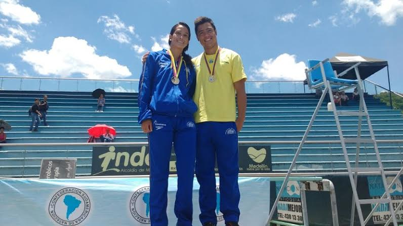 Diana Pineda y Sebastián Morales, clavadistas colombianos