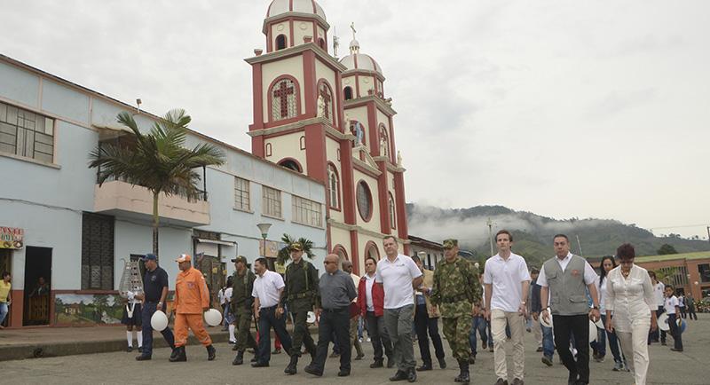Gobernador de Risaralda en Pueblo Rico