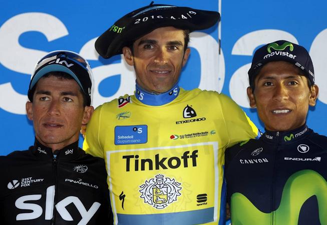 Henao,Contador y Quintana