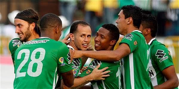 nacional celebra la goleada a bucaramanga