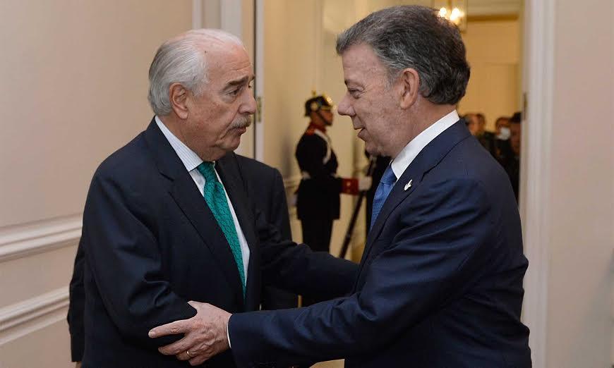 El Presidente Juan Manuel Santos se reunió con el expresidente Andrés Pastrana, en desarrollo del dialogo nacional convocado por el Jefe del Estado.
