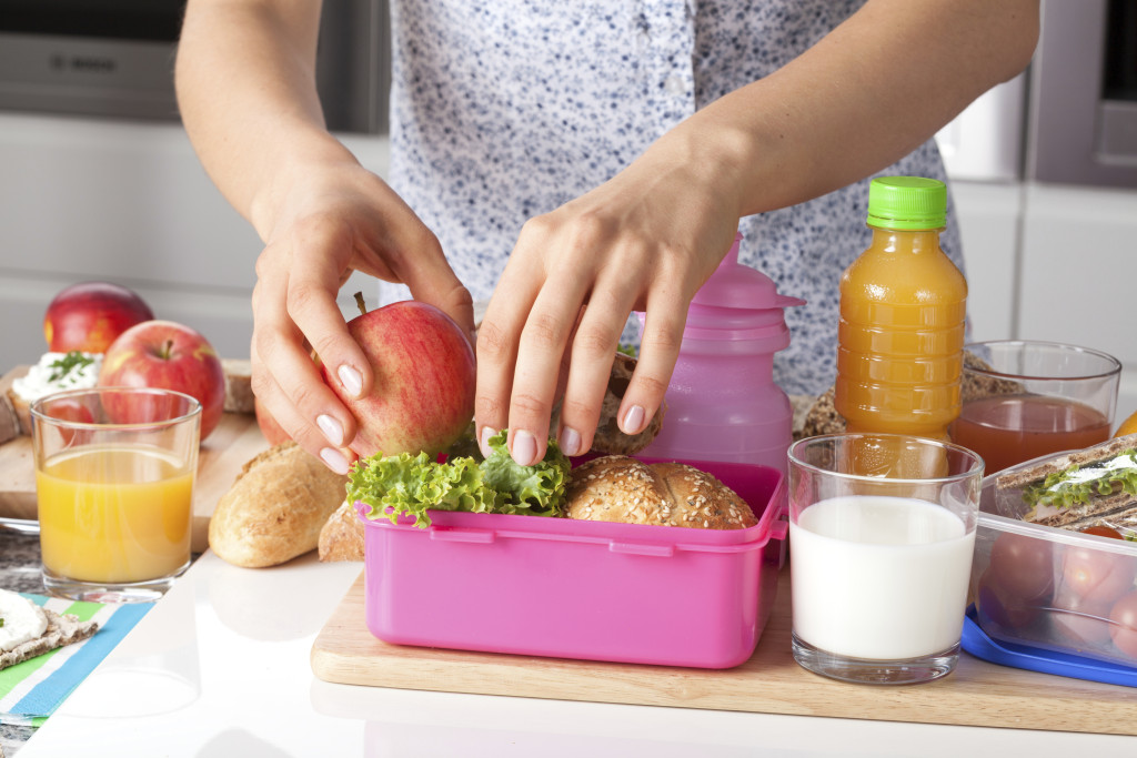Pink lunch box for little girl