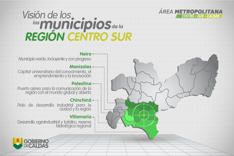 Resultado de imagen para municipios que integraban el area metropolitana de Manizales