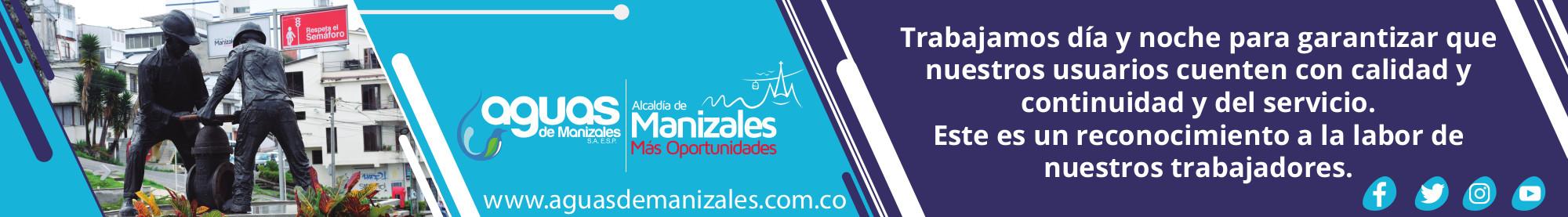 Aguas de Manizales. Banner junio de 2019
