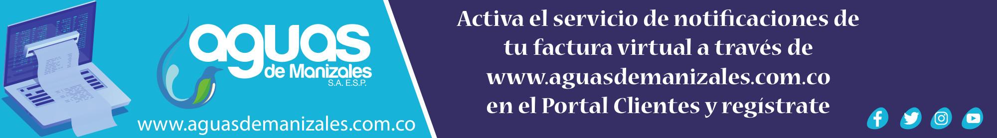 Aguas de Manizales. Banner julio de 2019.
