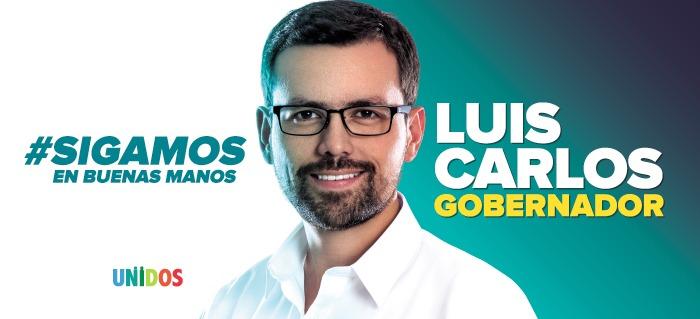 Luis Carlos Velásquez. Campaña política. Banner.
