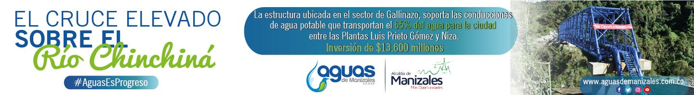 Aguas de Manizales. Banner octubre de 2019.
