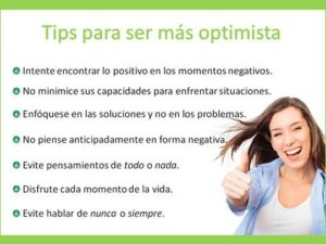 Tips para ser optimista