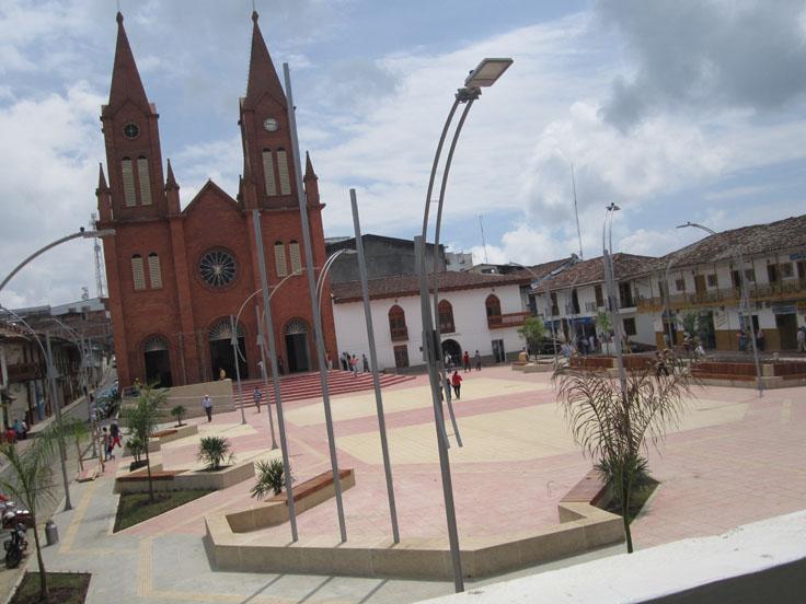 Anserma parque Jorge Robledo inauguración 12 de junio de 015