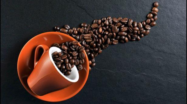 cafe especial en el atardecer