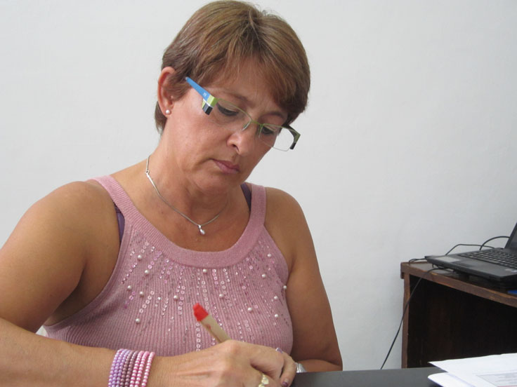 Martha Restrepo directora biblioteca Anserma
