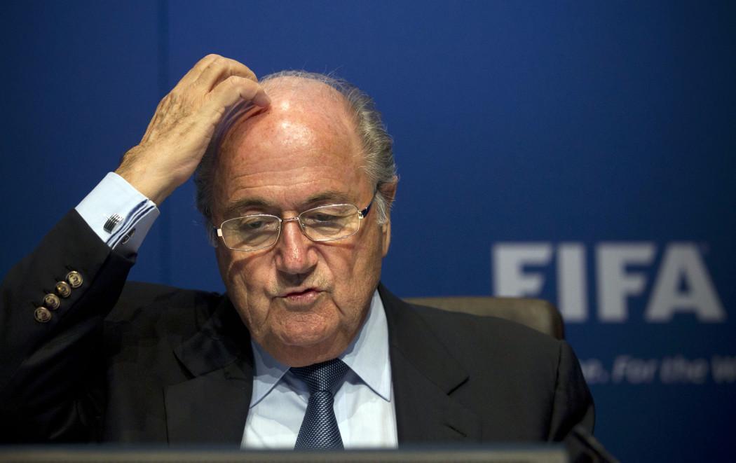 Suíça, Zurique, 30/03/2012. O presidente da Fifa, Joseph Blatter durante coletiva na sede da Fifa em Zurique, na Suíça. Foto: ANJA NIEDRINGHAUS/ASSOCIATED PRESS/AE - Crédito:ANJA NIEDRINGHAUS/ASSOCIATED PRESS/AE/Código imagem:112058