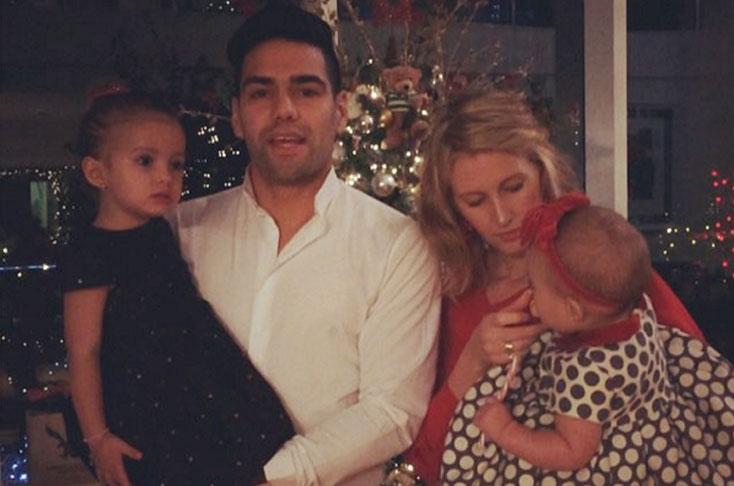 Falcao y familia en navidad