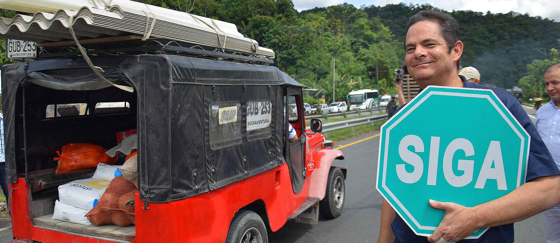 Tramo de la Vía Mulaló - Loboguerrero fue inaugurado por el Vicepresidente Vargas Lleras.
