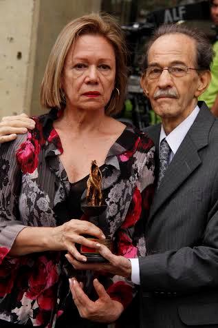 Rodrigo Pareja con su esposa Adiela