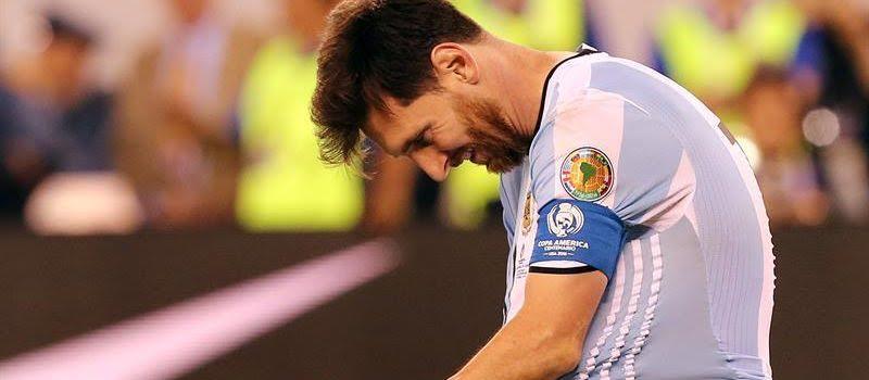 Messi tras la derrota de argentina junio 26 de 016
