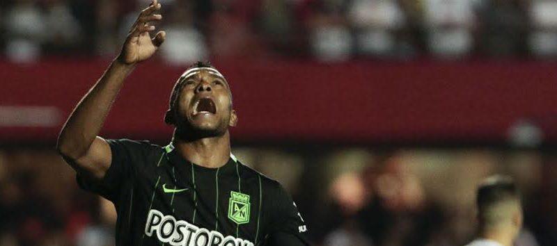 Borja festeja el primer gol colombiano