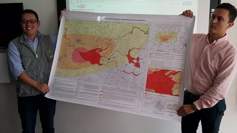 mapa de riesgo volcanico