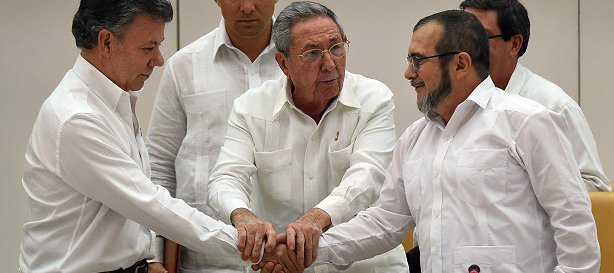 Presidente Santos y  Timochenko