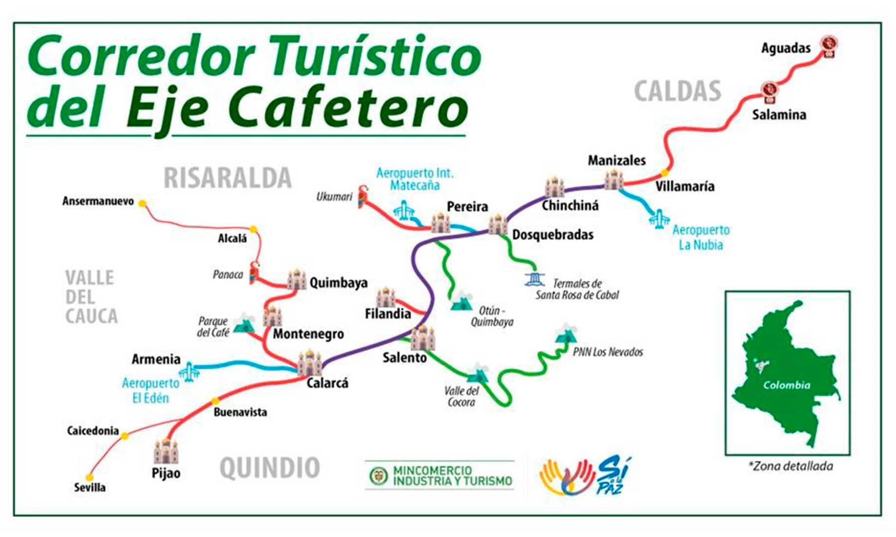 Gobierno lanza en el Eje Cafetero Primer Corredor Turístico Nacional