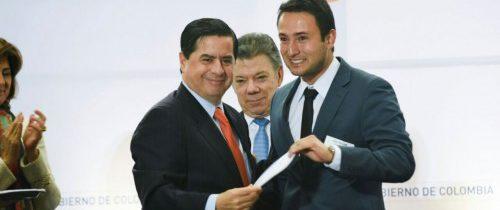 Mininterior y el alcalde de Aranzazu