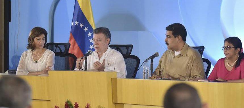 Santos, maduro y ministras frontera