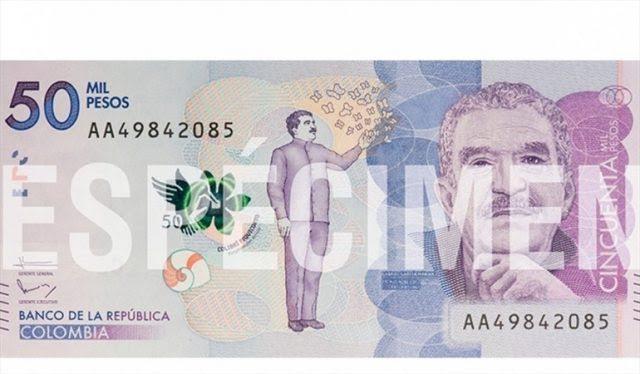 billete de cincuenta mil pesos foto dos