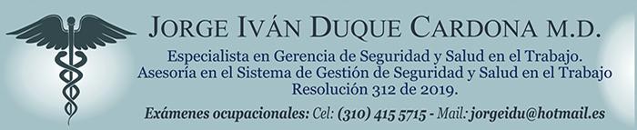 Jorge Iván Duque Carmona - Marzo 2019