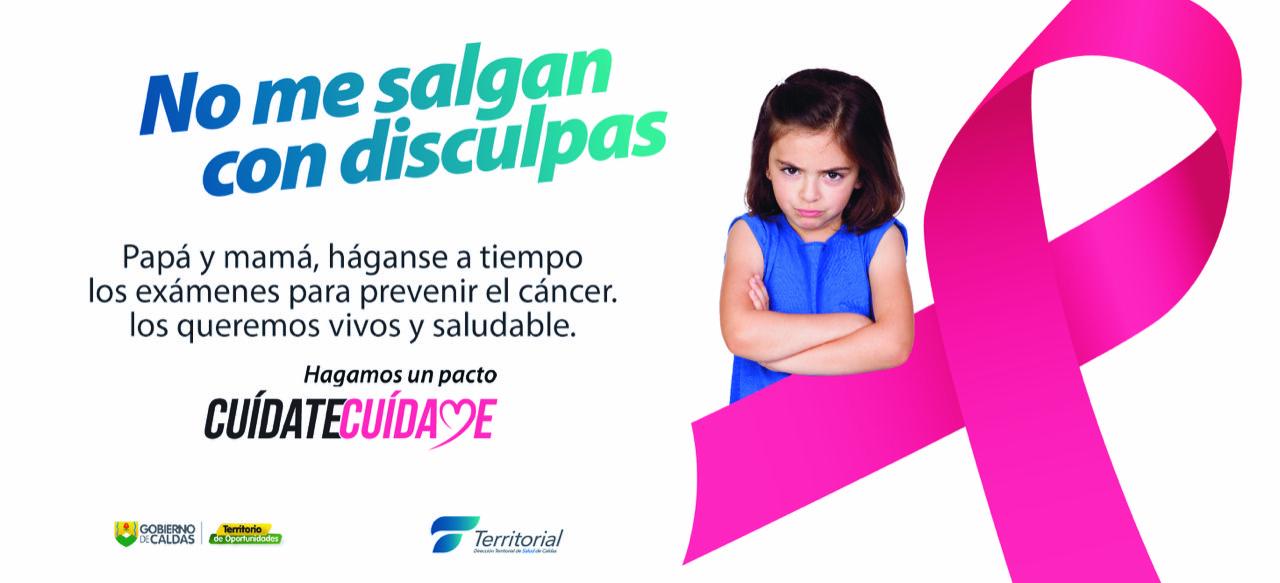 Campaña contra el cáncer. Banner Dirección Territorial de Salud.