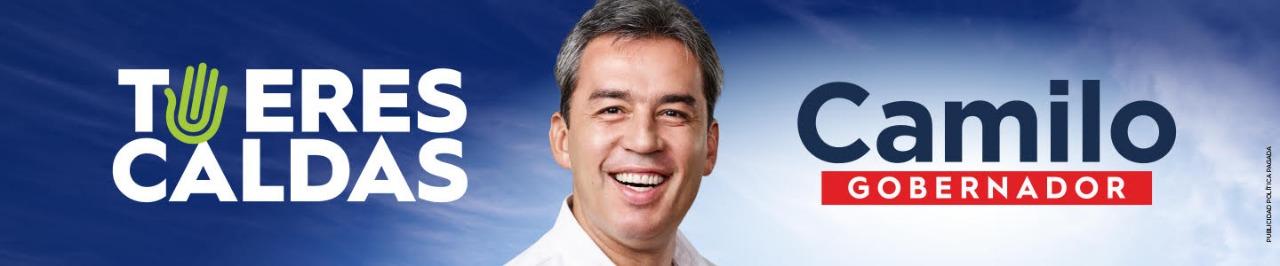 Camilo Gaviria. Banner de Campaña