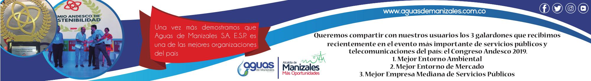Aguas de Manizales. Banner mes de agosto.
