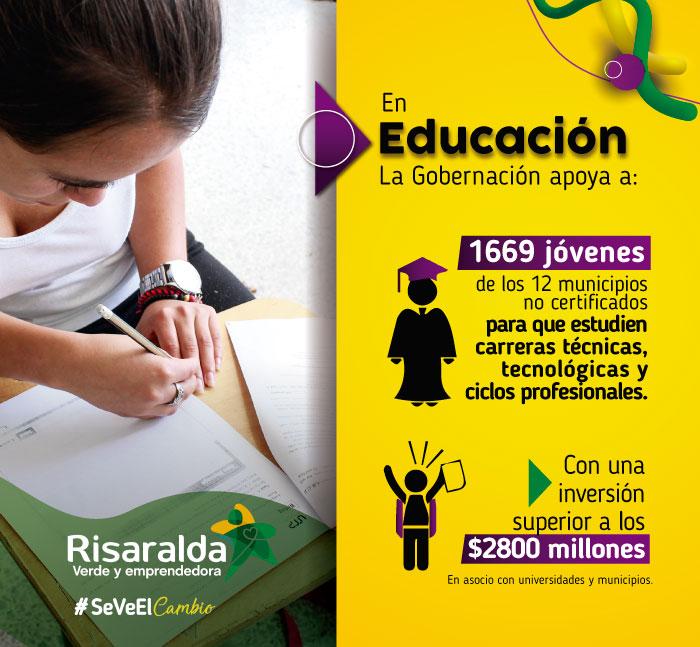 Gobernación de Risaralda. Banner 5 educación agosto