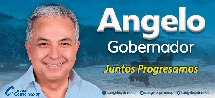 Ángelo Quintero. Banner campaña política.