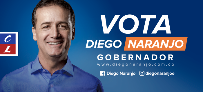 Diego Naranjo banner campaña política