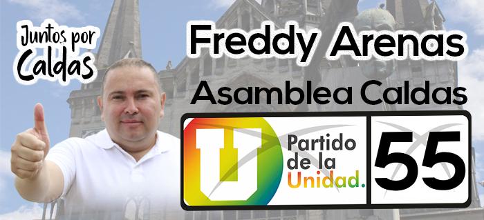 Freddy Arenas. Banner político. Septiembre.