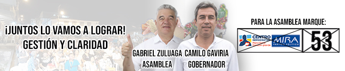 Gabriel Zuluaga. Banner final de la campaña.