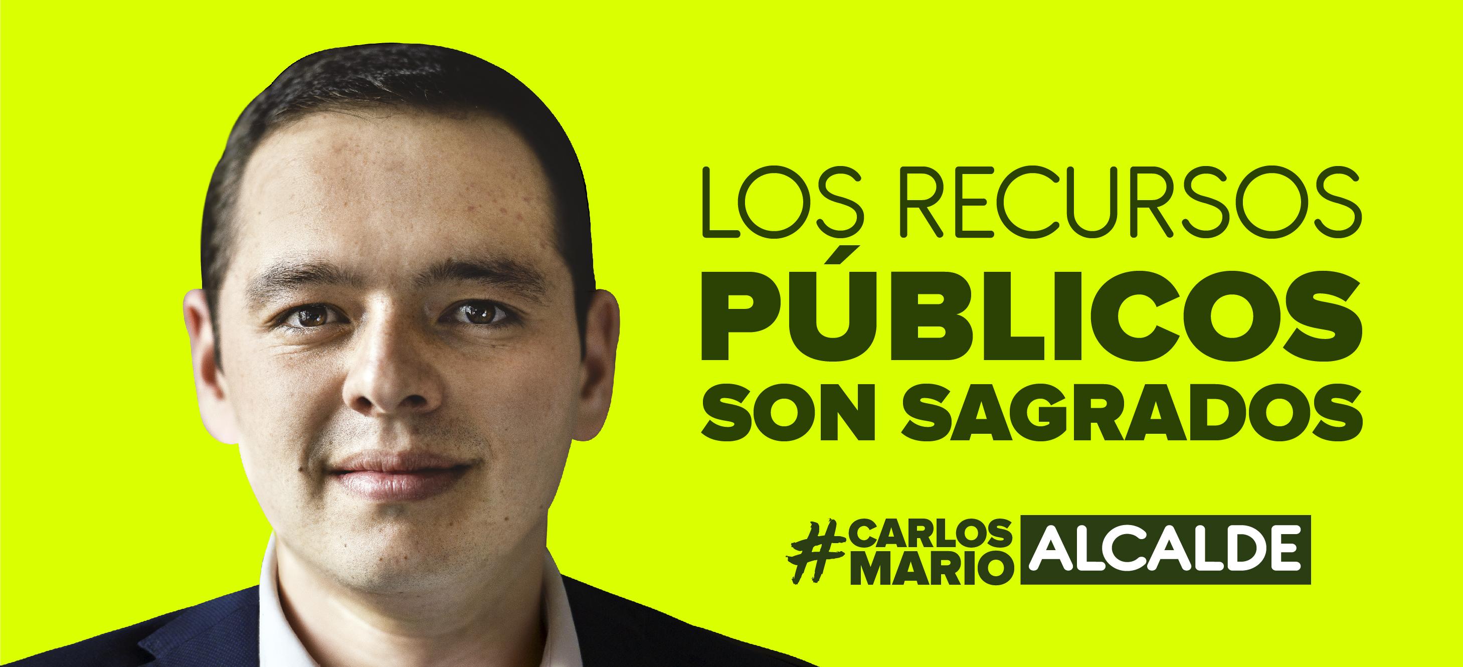 Carlos Mario Marín. Banner candidatura a la alcaldía de Manizales.