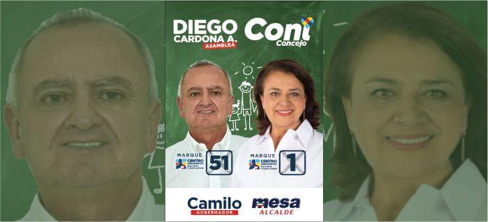 Diego y Coni mejorada. Banner político.