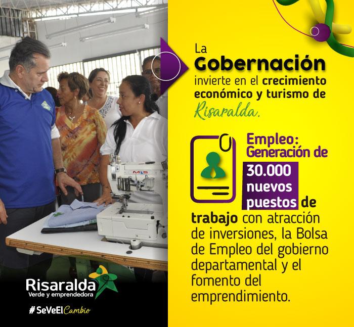 Gobernación de Risaralda. Generación de empleo banner 3.