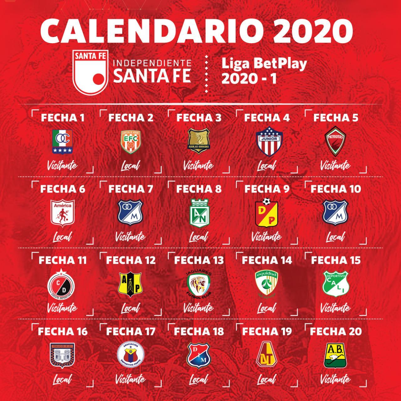 Salen 29 Jugadores De Santa Fe Que Se Alista Para La Liga Betplay Dimayor 2020 Eje21