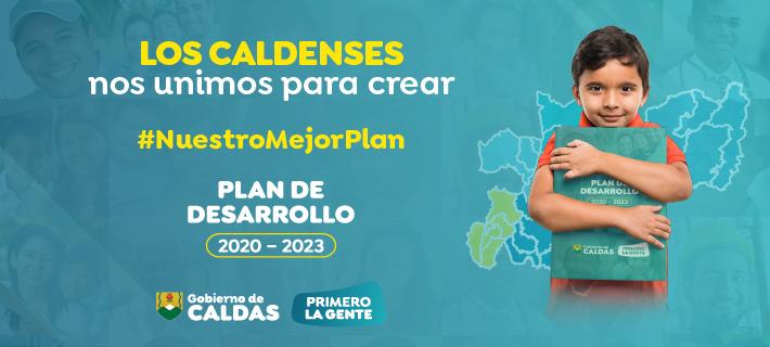 Plan de Desarrollo de Caldas. Banner.