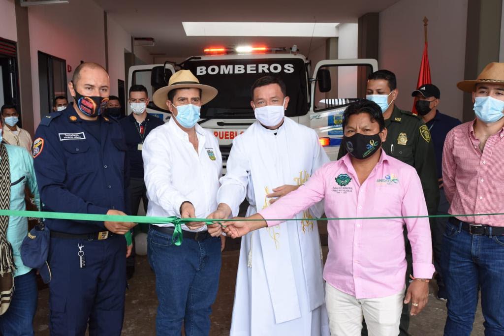 Gobernador de Risaralda inauguró sede de bomberos de Pueblo Rico - Eje21